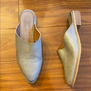 Taupe Slip on Leather Loafer